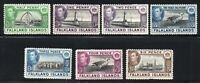 Falkland Islands 1937-38 Seven Stamps Mounted Mint  (6034)