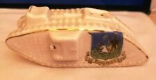 More details for (tank 02) antique gross/crested ware world war 1 tank displaying barbados shield