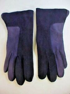 Shalimar Womens Gloves Size 6 1/2 Navy Blue Hand Stitched Lots of Detail Dressy