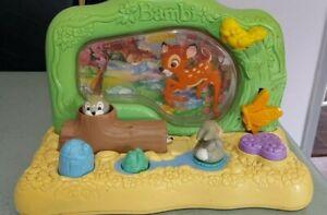 Vintage Disney BAMBI Activity  Baby Infant Toy Mattel Sights Sounds fully works