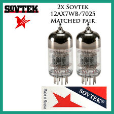 New 2x Sovtek 12AX7WB / 7025 / 12AX7 | Matched Pair / Duet / Two Tubes
