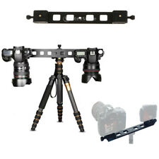 Lengthened Double Dual Quick Release Plate Camera Tripod Bracket Ball Head