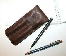 Leather pen holder 2 slot Leather pen case ITALIAN Leather pen case PERSONALIZED