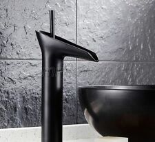 Black Oil Rubbed Brass Waterfall Bathroom Basin Faucet Sink Mixer Tap mhg034