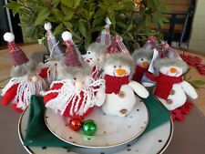SET OF 6  VERY CUTE HANGING DECORATION OR TABLE DECORATION