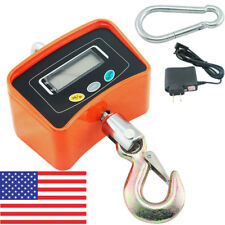 Professional 500KG/1100 LBS Digital Crane Scale Heavy Duty Industrial Hanging US