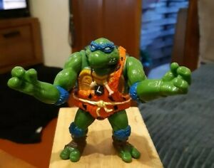 Figurine Tortue Ninja Léonardo Préhistorique 1992 Playmates Toys