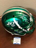 Sam Darnold New York Jets Chrome Signed Autograph Authentic Full Size Helmet BAS