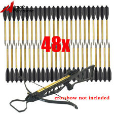 48x Hunting Pistol Crossbow Metal Bolts Arrows Mini Cross Bow Archery 50lb 80lb