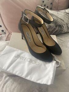 Jimmy Choo Helena 85 Black Kid Leather Heels / Shoes UK 7 / 40