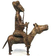 Art Africain Arts Premiers - Extraordinaire Cavalier Baoulé en Bronze - 44 Cms