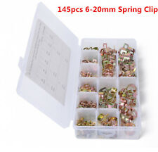 145X spring clips 11sizes Car Fuel Line Hose Clip Pipe Air Tube Clamp Fastener
