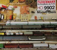 Anlagenpläne riel de modelismo tren plan modelo Vía Fleischmann 9902 H0 1 87