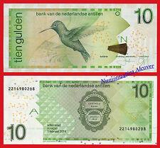 ANTILLAS HOLANDESAS NETHERLANDS ANTILLES 10 Gulden 2014 Pick 28g   SC / UNC