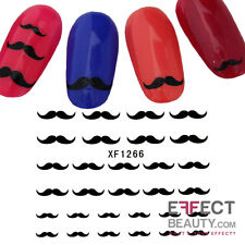Black Moustache 3D Nail Art Stickers Transfers Decals Buy 2 Get 1 Free