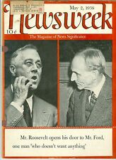 NEWSWEEK  ROOSEVELT  FORD CHESS  JAPAN FRANCE SPAIN  MAY 2   1938