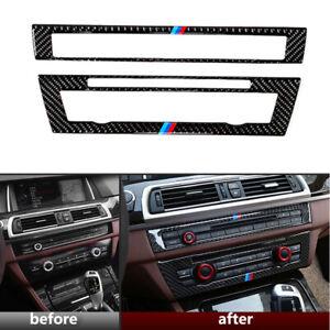 For BMW F10 5 Series Interior Trim Carbon Fiber CD Control Panel Sticker 11-2017