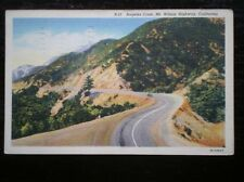 LINEN POSTCARD  USA CALIFORNIA ANGELES CREST MT WILSON HIGHWAY  C1939