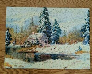 """1957 TUCO Picture Puzzle Millstream In Mid Winter TV Series 2908 +200 12"""" x 16"""""""