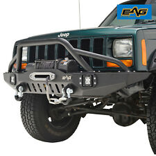 EAG Front Bumper with LED Lights for 83-01 Jeep Cherokee XJ