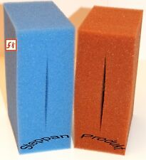 8 x BLAU und 8 x ROT = 16 x FILTERSCHWAMM passend für Oase  Biotec 18+36 Koi