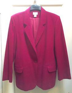 Preview International (Nordstrom's) Merino Wool Blazer, Fuchsia, Petite L