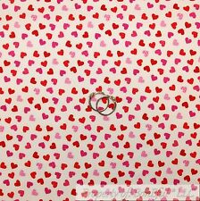 BonEful Fabric FQ Cotton Quilt White Red Pink Heart Dot Sexy Valentine Love Girl