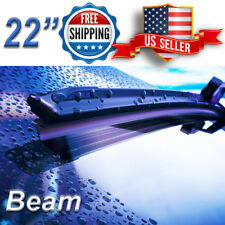 22 Inch Wiper Blades All Season Bracketless Windshield J-HOOK Beam Style