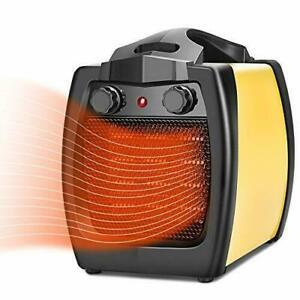 TRUSTECH Space Heater - 2 In 1 Ceramic Heater, 1500W Electric Heater, Fan