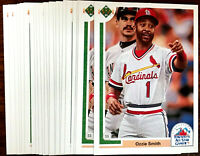 1991 Upper Deck OZZIE SMITH ~ 20 CARDS LOT #95F ~  HALL OF FAME INDUCTEE SS