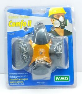 MSA Comfo II Respirator Facepiece Protection Mask From Gas, Vapors & Particles