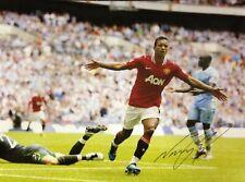 NANI SIGNED MANCHESTER UNITED FOOTBALL 16X12 PHOTO WITH COA & PROOF