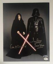 Dave David Prowse IAN MCDIARMID Signed Darth Vader 11x14 Photo BECKETT JSA COA