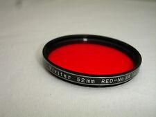 VIVITAR 52mm RED No 25 ( A ) filter , Japan