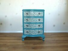Chest of drawers decoupage William Morris Willow Wallpaper Upcycled Hand Painted