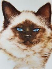 "Nib 1985 Leo Jansen/Kern Collectibles/Kitty Cats Plate ""Topsie"" Himalayan, w/Coa"