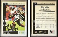 Billy Miller Signed 2003 Score #48 Card Houston Texans Auto Autograph