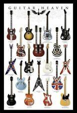 GUITAR HEAVEN MUSIC POSTER (61x91cm) GIBSON FENDER STRAT PICTURE PRINT NEW ART