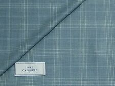 PIACENZA 100% WORSTED CASHMERE FABRIC, MIXTURE LIGHT BLUE SHADE & CHECK, 2.5M