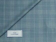 Piacenza 100% tela de lana cashmere, mezcla sombra azul claro y Check, 2.5M