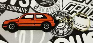 VW Golf Mk2 Gti 16v Rallye Key Ring Red