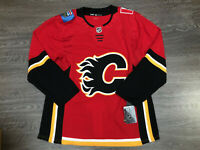 Adidas NHL Hockey Calgary Flames Jersey Climalite Authentic 54 Fight Strap $180