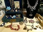 Vintage+Jewelry+Lot+With+Antique+Box