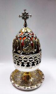 Standing Oil Lamps - Table Oil Lamp - Oil Lamp Holders - Oil Vigil Lamp Brass