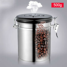Tea Coffee Sugar Kitchen Storage Canisters Jars Pot Containers Set Valve Release