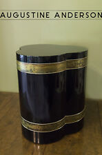 BERNHARD ROHNE FOR MASTERCRAFT ACID ETCHED SIDE/ACCENT TABLE-MIDCENTURY GLAM-MCM