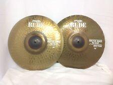 "Paiste Rude 14"" Sound Edge Hi Hat Cymbals/New-Warranty/Free Stick Bag & Sticks!"
