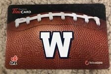 Winnipeg Blue Bombers Brown Tim Horton's CANADA Gift Card *No Value Reloadable