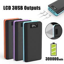 External 300000mAh Power Bank Pack Portable 3USB Battery Charger Fr Mobile Phone