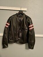 Dainese Rapida 72 Mens Leather Motorocycle Jacket XL 58 Black